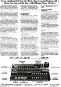 text advertisment apple I 210x300 - Apple I Computer Introductory Advertisement