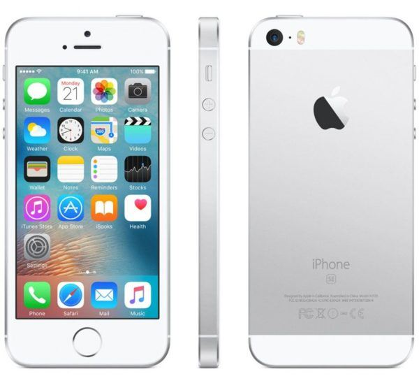 iphone se silver 600x548 - iPhone SE - Full Phone Information, Tech Specs