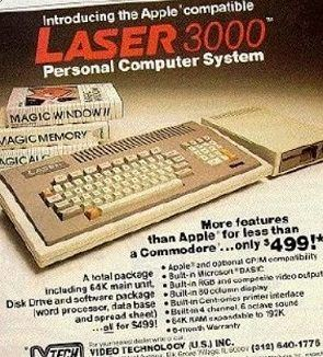 laser 3000 - Laser 3000 Personal Microcomputer Details and Specs