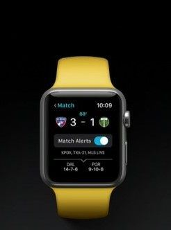 Control Apple TV apple watch yellow