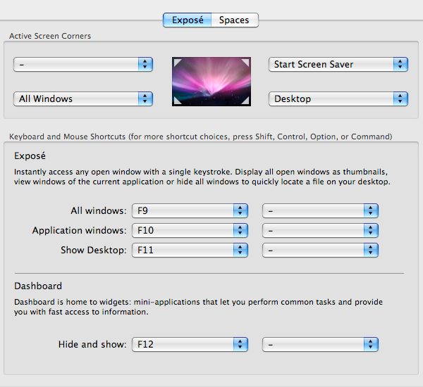 Mac Basics: Exposé Preferences