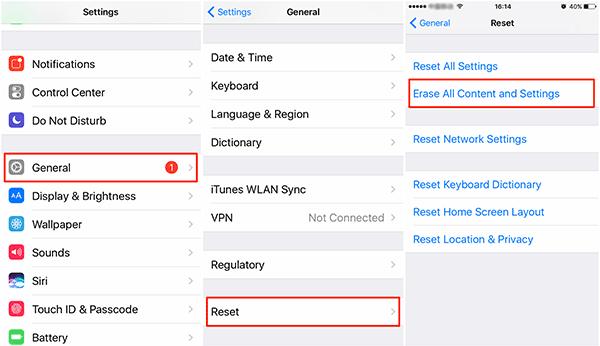 iPad Mini Erase All Content and Settings