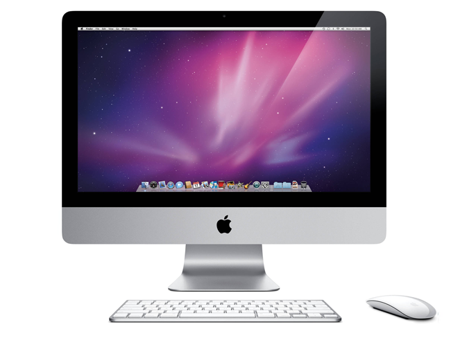 The iMac Aluminium, released in 2007, was thinner than the previous model.