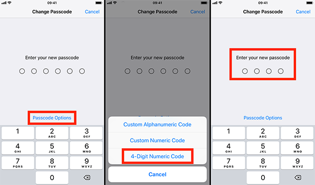 simple or complex passcodes options - Simple or Complex Passcode for Your iPhone or iPad
