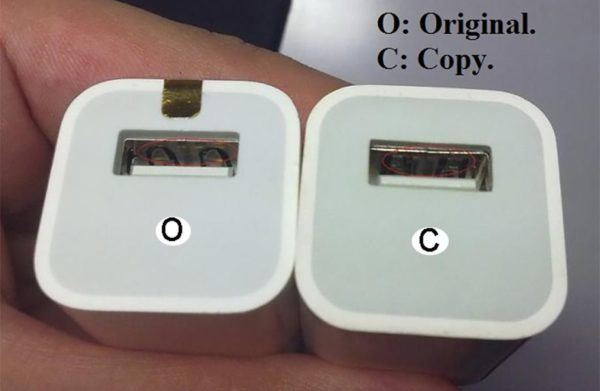 iphone charger fake vs original 600x391 - iPhone Chargers: How to Spot Fake vs. Original