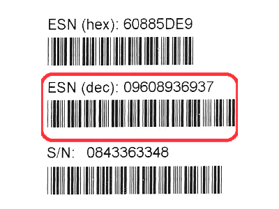 ESN on the box How to Check IMEI/MEID and ESN