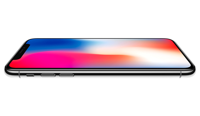 iPhone X, featuring the first OLED screen that rises to the standards of iPhone.