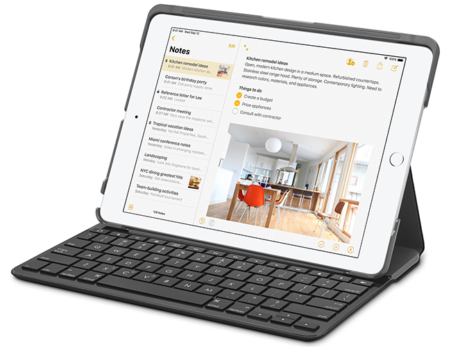 Connect and compose with any Bluetooth keyboard.