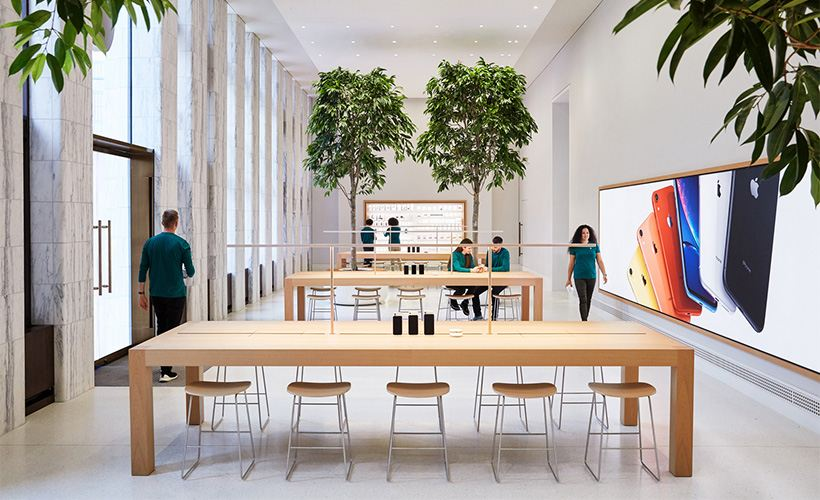 Located where the library's book stacks were housed, the Genius Grove is where Apple Carnegie Library's team of Geniuses will offer personalized technical support and advice.