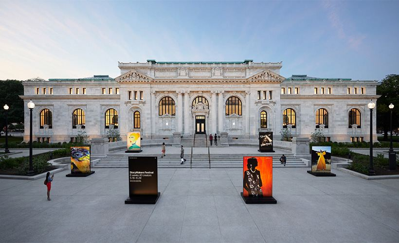 The Apple Carnegie Library opens in Washington, D.C. in a restored Beaux-Arts-style building located in Mount Vernon Square.