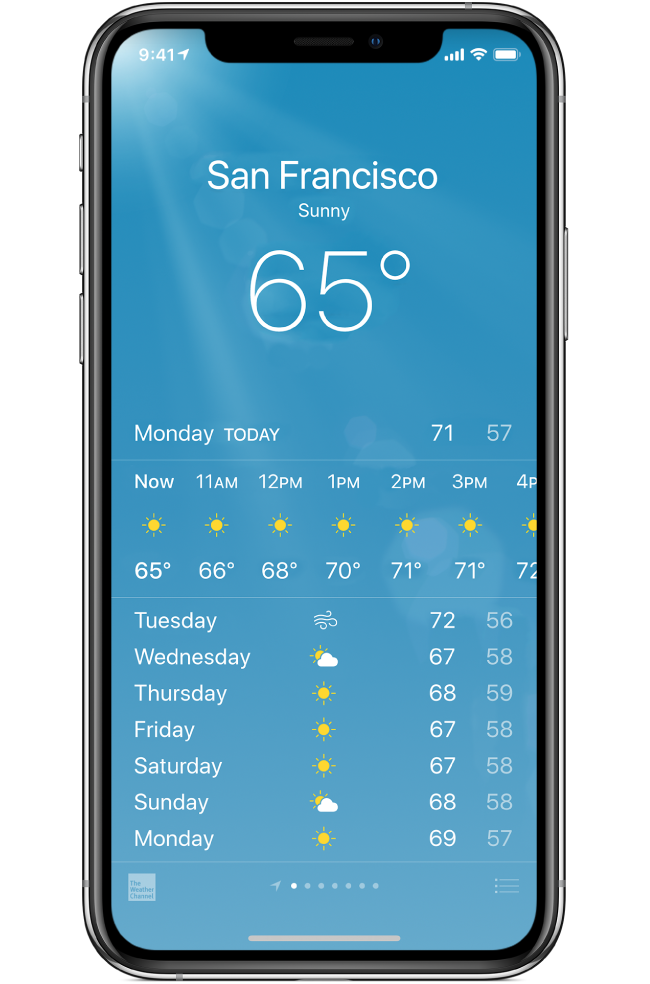 how check weather on your iphone forecast screen - How to Check the Weather on Your iPhone