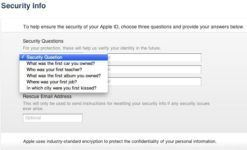 Apple ID Security Questions