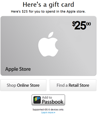 Apple Store Gift Cards can be used for lot of Apple products