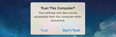 Trust This Computer alert on your iPhone, iPad, or iPod touch
