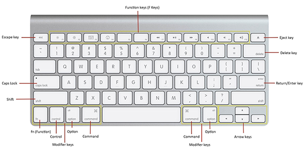 Apple Mac Keyboard Standard Function Keys
