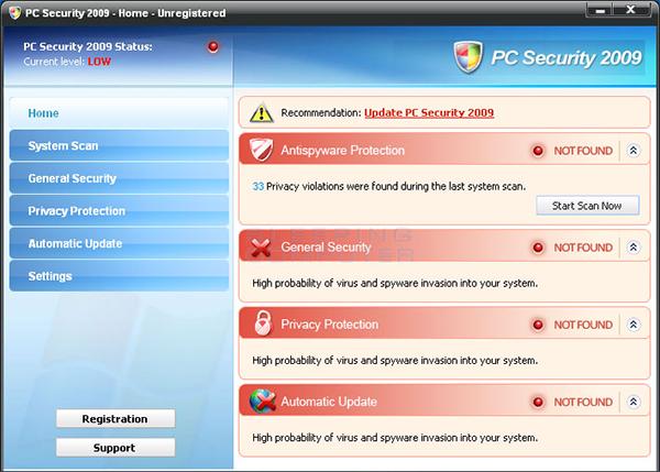 Fake Antivirus Screenshot
