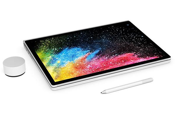 Microsoft Surface Book 2 (15-Inch, Intel Core i7, Late 2017) with accessories