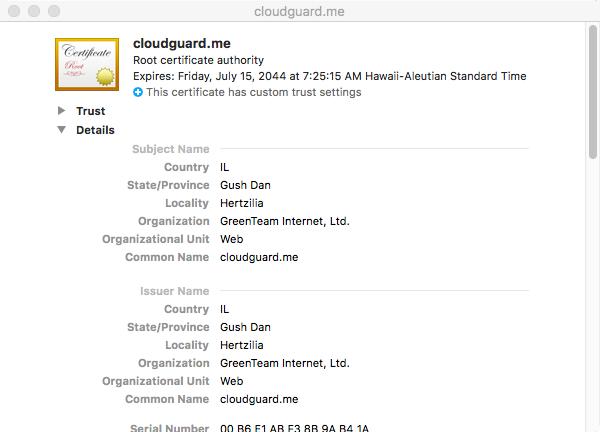 cloudguard me certificate - MaMi Malware Struck MacOS