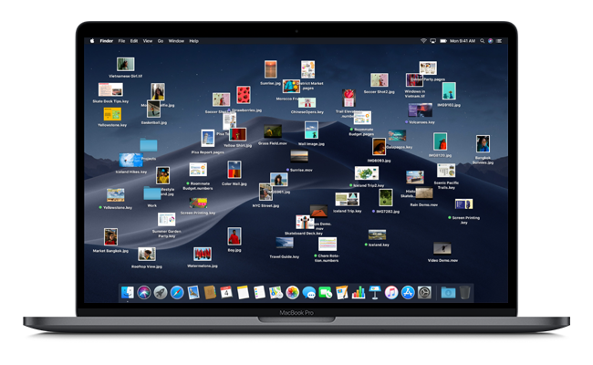 Apple has integrated a new stacking feature into this version of macOS, designed to make desktop disorder a thing of the past.