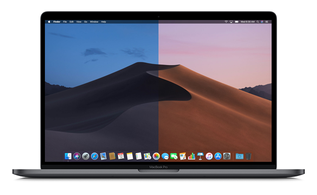 MacOS Mojave also offers two new dynamic background images, which change considerably during the day and can be configured in System Preferences.