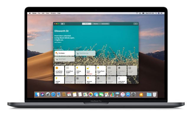 With the Home app, you can control your HomeKit-enabled accessories from the comfort of your Mac.