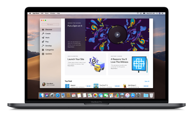 The macOS Mojave's App Store has also been updated and adapted from the newly redesigned one on iOS.