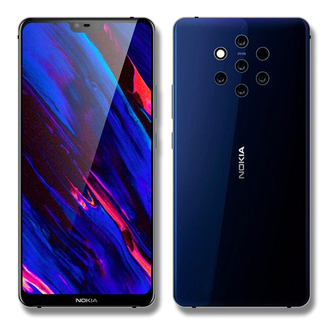 In the upcoming flagship Nokia 9, we expect 5 rear cameras at once