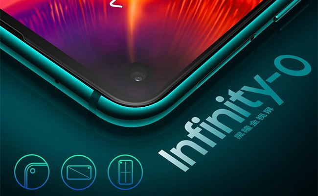 Samsung Galaxy A8s gets a new Infinity-O display, with an in-screen front camera in the same upper left corner.