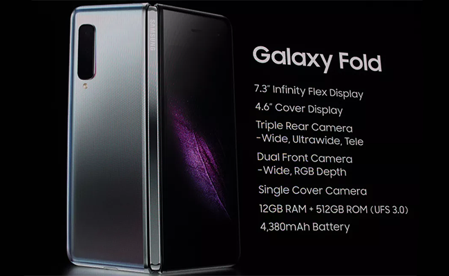 Samsung Galaxy Fold specifications.