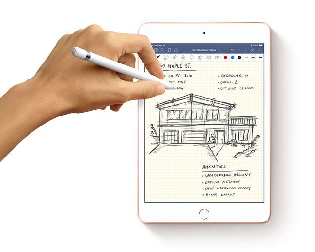 Apple Pencil support for the new iPad mini provide even more versatility for taking notes, editing photos and capturing ideas on the go.