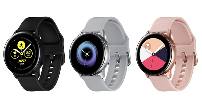 Galaxy Watch Active comes in one size, 40 mm, and three colors: Silver, Black, Rose Gold.