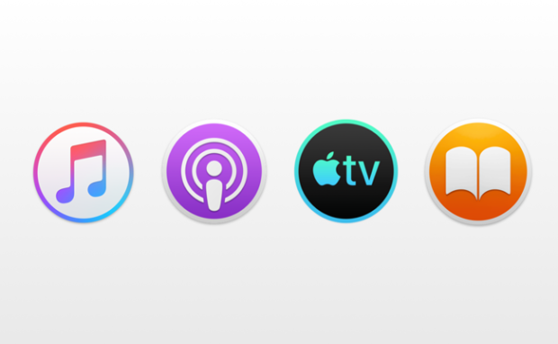 Revamped Music, Podcasts, TV and Books Apps