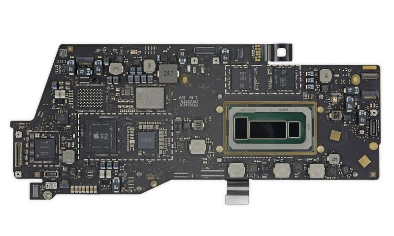 MacBook Pro 2019 13-inch logic board.